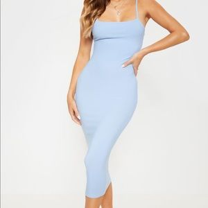 Pretty little thing baby blue midi dress